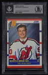 Martin Brodeur Autographed Rookie Card Beckett Authentication