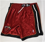 NBA 2008-09 Miami Heat Game Used Alternate Shorts Attributed To Dwyane Wade