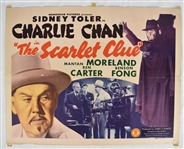 "Vintage 1945 ""The Scarlet Clue"" Movie Poster"