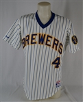 Paul Molitor 1988 Milwaukee Brewers Game Used Jersey w/Harvey Kuenn Patch & Dave Miedema LOA