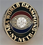 Julius Erving 1974  NY Nets ABA World Champs 10k Gold Jostens