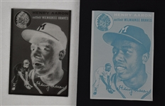 Hank Aaron 1954 Topps Rookie Plate & Negative *RARE*