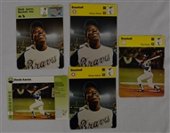 Hank Aaron Lot of 5 Sports Caster Cards