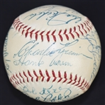 Milwaukee Braves 1954 Team Signed Baseball w/Hank Aaron Rookie Sig PSA 7.5
