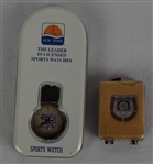 Hank Aaron HOF Pin & 715 HR Watch