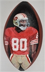 Jerry Rice Autographed Art Football