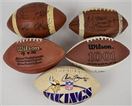 Minnesota Vikings Collection of Autographed Footballs