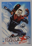 Stan Lee Autographed 13x19 Spider-Stan Photo