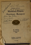 Minnesota Gophers 1932 Bernie Bierman Autographed Banquet Program