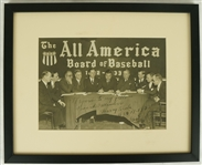 "Babe Ruth 1933 ""The All American Board of Baseball"" Autographed & Inscribed Photograph JSA LOA"
