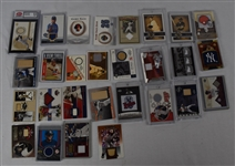 Collection of 28 Game Used Cards