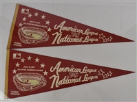 Vintage 1977 Lot of 2 All Star Game Pennants