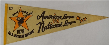 Vintage 1978 MLB All Star Game Pennant