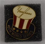 New York Yankees 40th World Series Press Pin