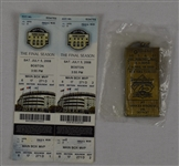 New York Yankees 2008 Tickets & Commemorative Key Chain