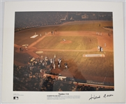 Hank Aaron Autographed 715th HR Lithograph