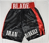 Iran Barkely Autographed Boxing Trunks