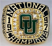Ohio University 1997 National Championship Hockey Ring