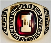 Bill Mueller Indiana Hoosiers 1996 Big 10 Champions 10k Gold Ring by Jostens