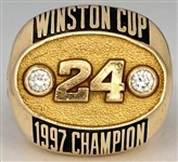 Jeff Gordon 1997 Winston Cup Champion 10K Gold Ring