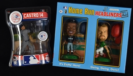 Ken Griffey Jr. Mark McGwire & Starlin Castro Figures