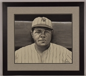 Babe Ruth Original James Fiorentino Watercolor Painting