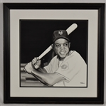 Willie Mays Original James Fiorentino Watercolor Painting