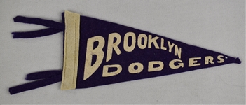 Vintage Brooklyn Dodgers Pennant