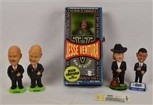 Collection of 5 Bobbleheads w/Jesse Ventura