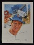 Ted Williams Autographed & Inscribed Career HR #81 Cliff Spohn Limited Edition #81/521 Lithograph