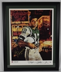 Joe Namath Signed & Framed Limited Edition Stephen Holland Lithograph PSA/DNA