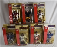 Collection of 7 NFL 2004 Gladiators of the Gridiron Action Figures