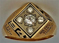 "Lee Smith's 1994 AL Rolaids ""Relief Pitcher of the Year"" Award Ring 14K Gold w/Diamonds & Letter from Lee Smith"
