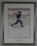 Ted Williams Autographed & Framed Silver Carlo Beninati Serigraph #139/209