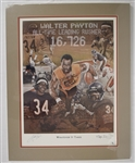 "Walter Payton ""Whatever It Takes"" Autographed Limited Edition Lithograph"