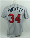 Kirby Puckett 1987 Minnesota Twins Photomatched Game Used Jersey w/Puckett Family Letter & Sports Investors LOA