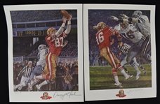 "Joe Montana & Dwight Clark Autographed Limited Edition ""Catch"" Lithographs"