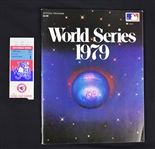 Vintage 1979 World Series Program & Ticket