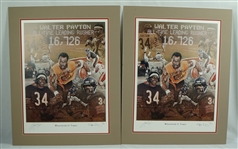 "Walter Payton ""Whatever It Takes"" Lot of 2 Autographed Limited Edition Lithograph"