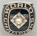 Dave Ricketts 1967 St. Louis Cardinals World Series Championship Ring 14k Gold w/Diamonds Made by Balfour