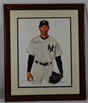 Mariano Rivera James Fiorentino Autographed Limited Edition Framed Giclee