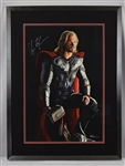 "Chris Hemsworth Original ""Thor"" James Fiorentino Watercolor Painting *Signed by Hemsworth*"