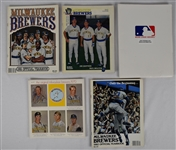 Collection of 22 Milwaukee Brewers Yearbooks & Programs