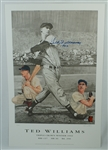 Ted Williams Autographed 1942 Triple Crown Lithograph #111/521 PSA/DNA
