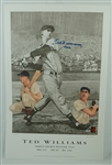 Ted Williams Autographed 1942 Triple Crown Lithograph #113/521 PSA/DNA