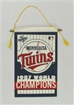 Minnesota Twins 1987 World Series Championship Pennant