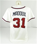 Greg Maddux 1996 Atlanta Braves Game Used & Autographed Jersey w/Dave Miedema LOA
