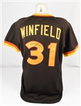 Dave Winfield 1980 San Diego Padres Game Used & Autographed Jersey w/Dave Miedema LOA