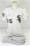 Frank Thomas 1991 Chicago White Sox Game Used Jersey & Pants w/Dave Miedema LOA