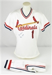 Ozzie Smith 1991 St. Louis Cardinals Game Used & Autographed Full Uniform w/Dave Miedema LOA